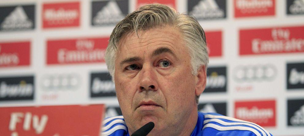 Foto: Ancelotti, durante la conferencia de prensa (Efe).