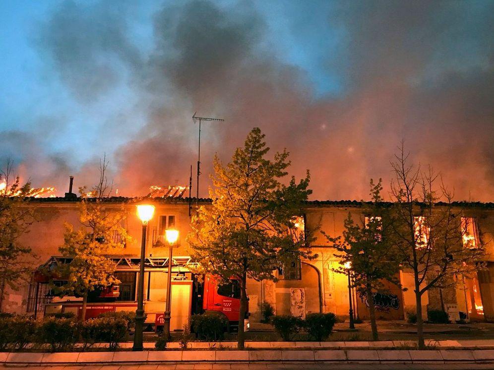 Foto: Incendio en el palacio de Osuna, de Aranjuez. (EFE)