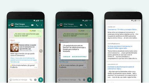 WhatsApp ya permite verificar en España si un enlace recibido es un bulo