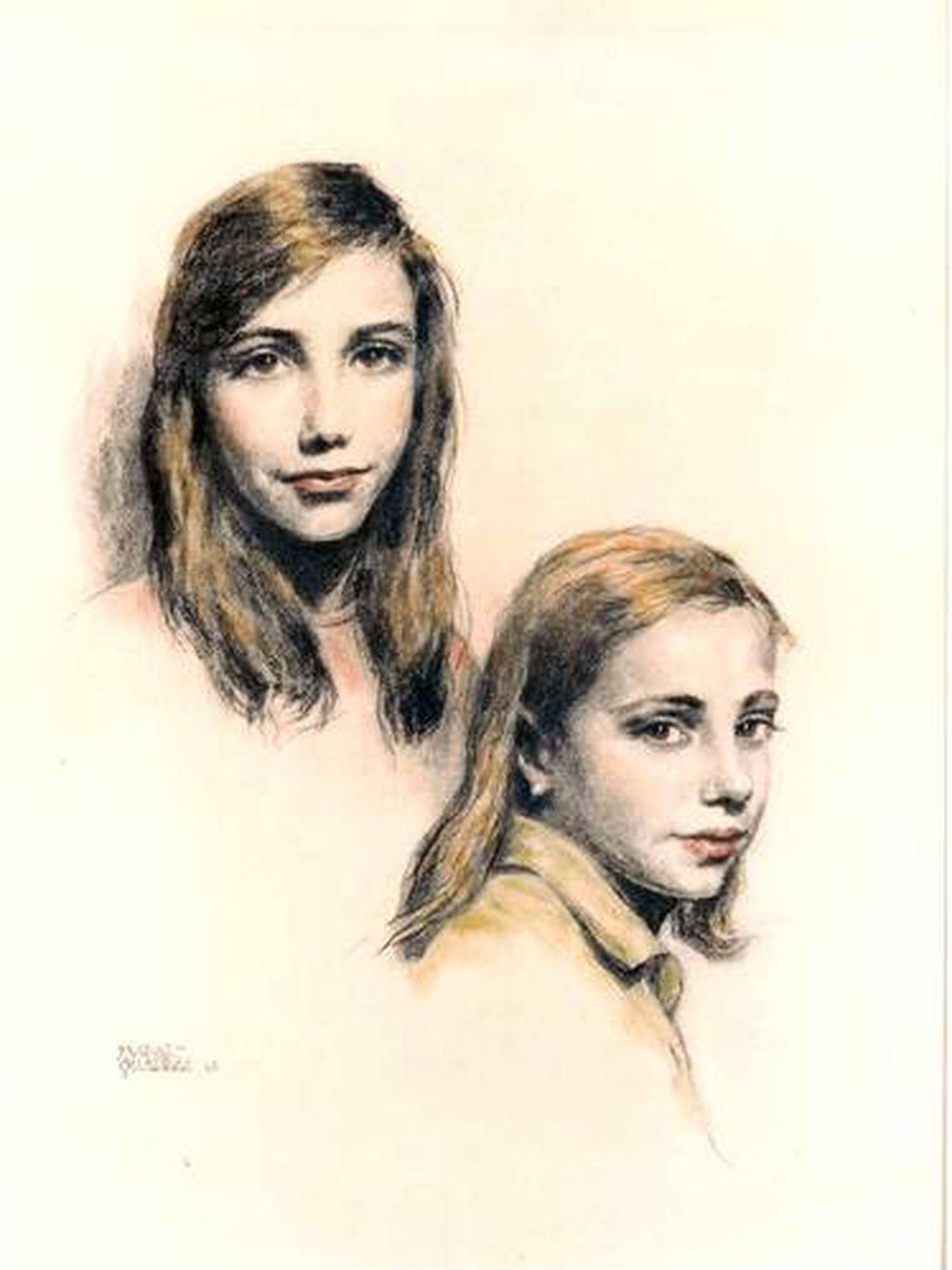 Elena y Alicia Daurella de Aguilera, de pequeñas, pintadas por el artista Alejo Vidal-Quadras. (Cortesía)
