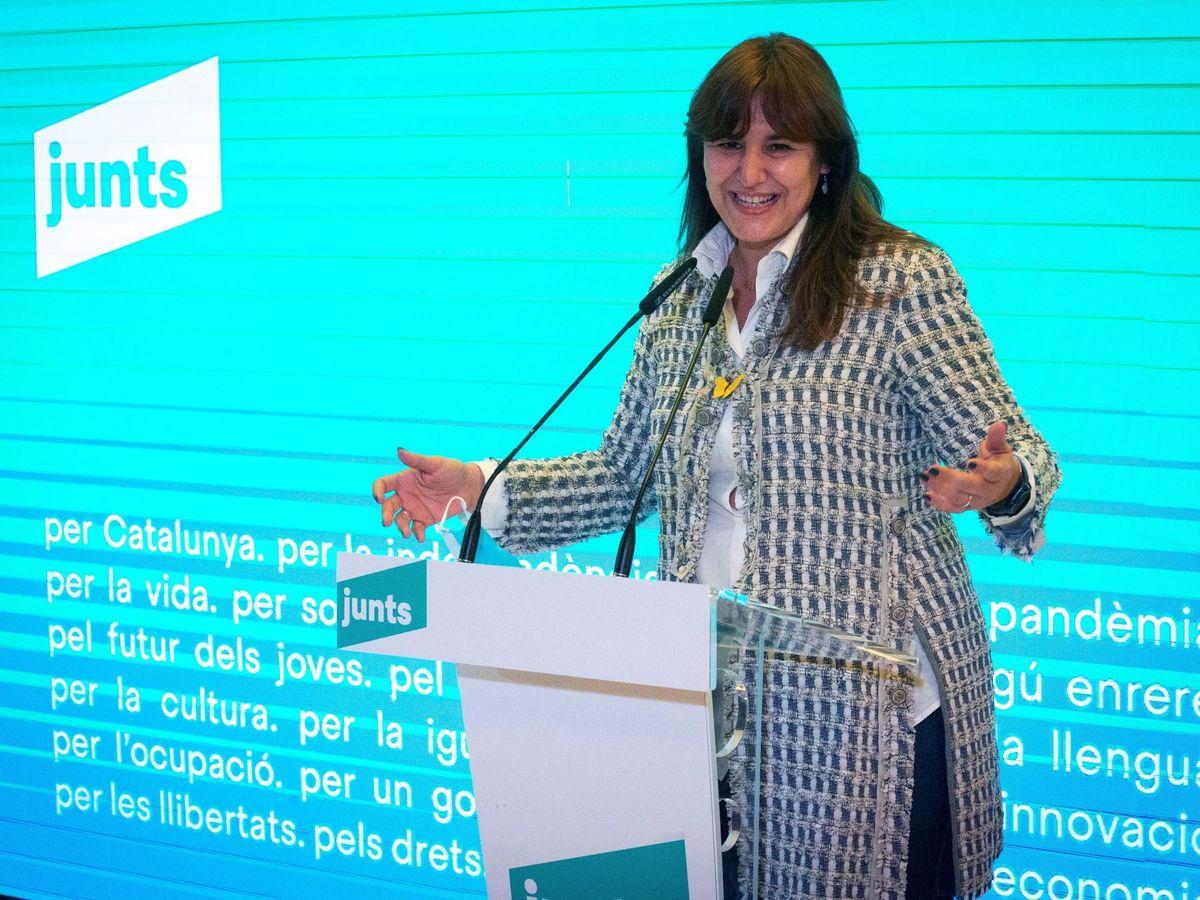 Foto: La candidata a la presidencia de la Generalitat por JXCAT, Laura Borras. (EFE)