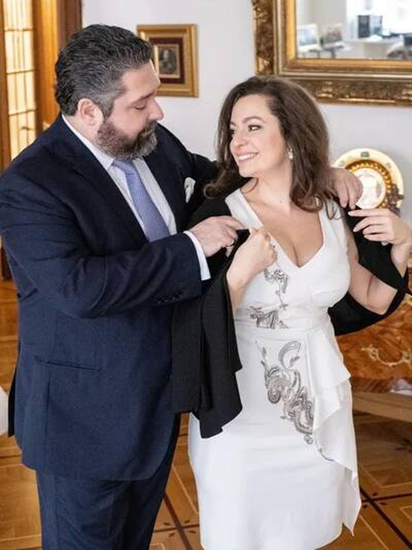 Jorge Románov y Rebecca Bettarini, en una imagen de archivo. (Cancillería de la Casa Imperial de Rusia)