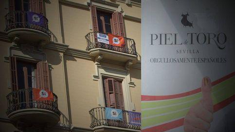 Así es la propaganda a favor del Sí que inunda Cataluña