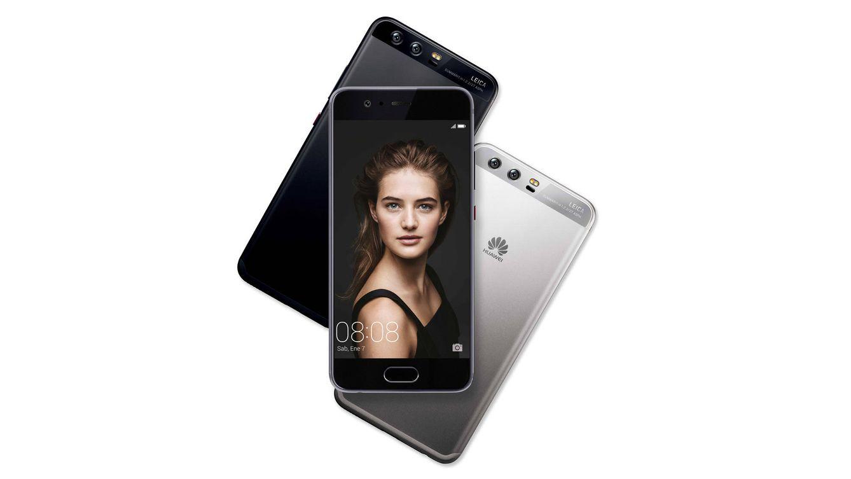 Foto: Huawei P10, en negro y gris.