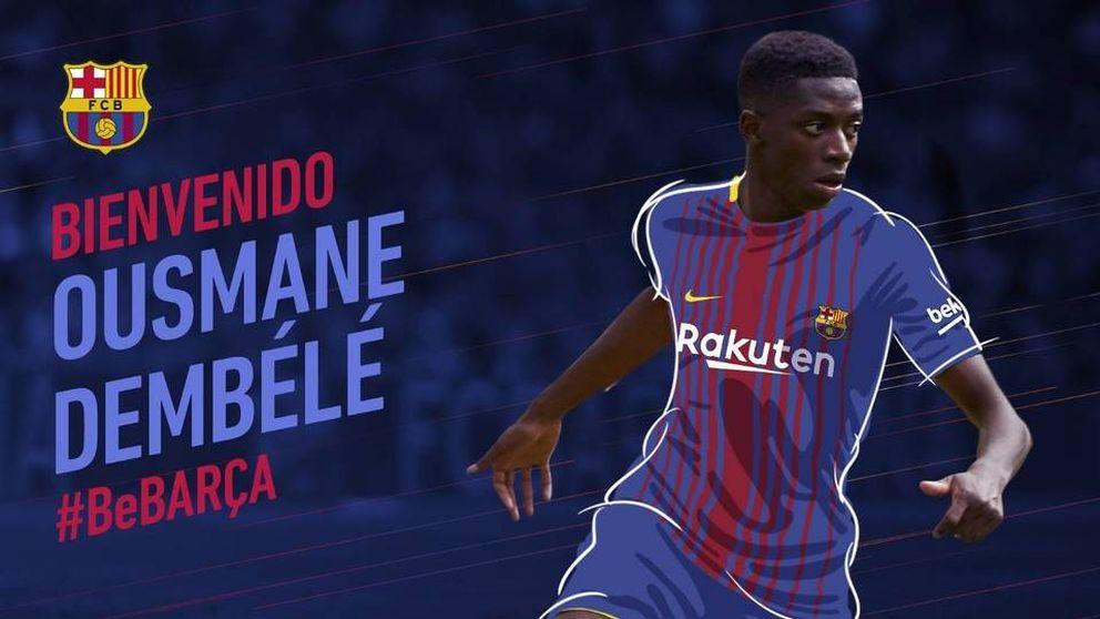 El FC Barcelona anuncia el fichaje de Dembélé, que podría costar 145 millones