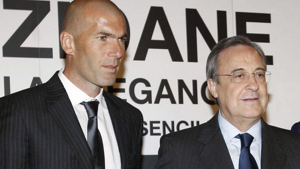 Zidane hace méritos como alternativa de Florentino a Rafa Benítez