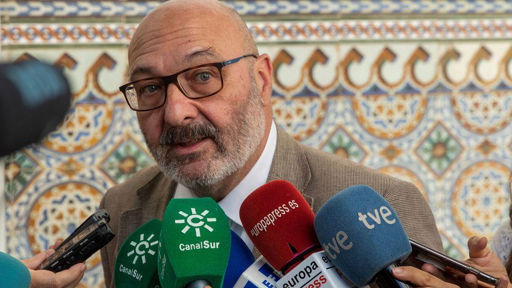 Foto: El portavoz de Vox en el Parlamento de Andalucía, Alejandro Hernández. (EFE)