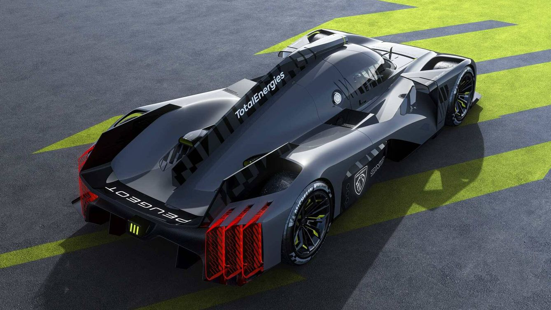 Foto: Peugeot 9X8, un espectacular prototipo, con un diseño innovador y sin alerón para ganar Le Mans.
