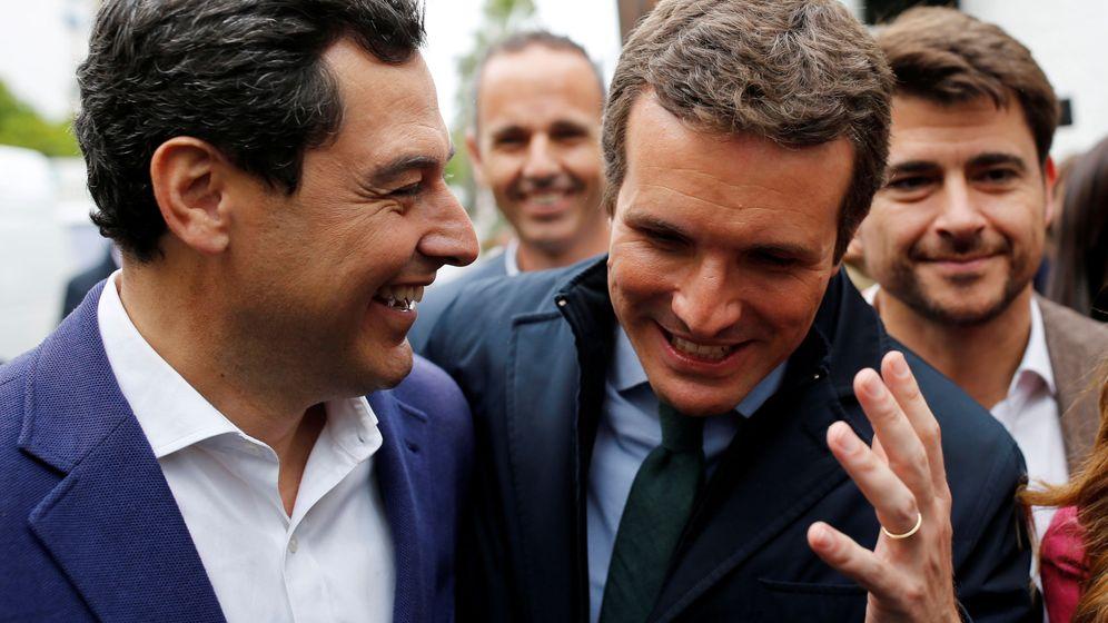 Foto: Juan Manuel Moreno Bonilla junto a Pablo Casado. (EFE)