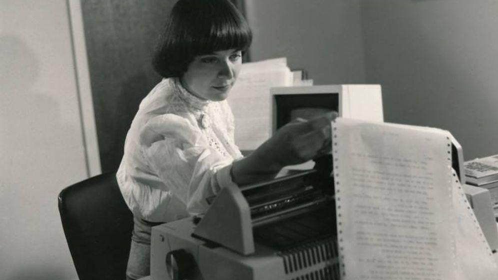 Foto: Gay Courter, la primera escritora que empleó un procesador de texto (Fuente: Philip Courter)
