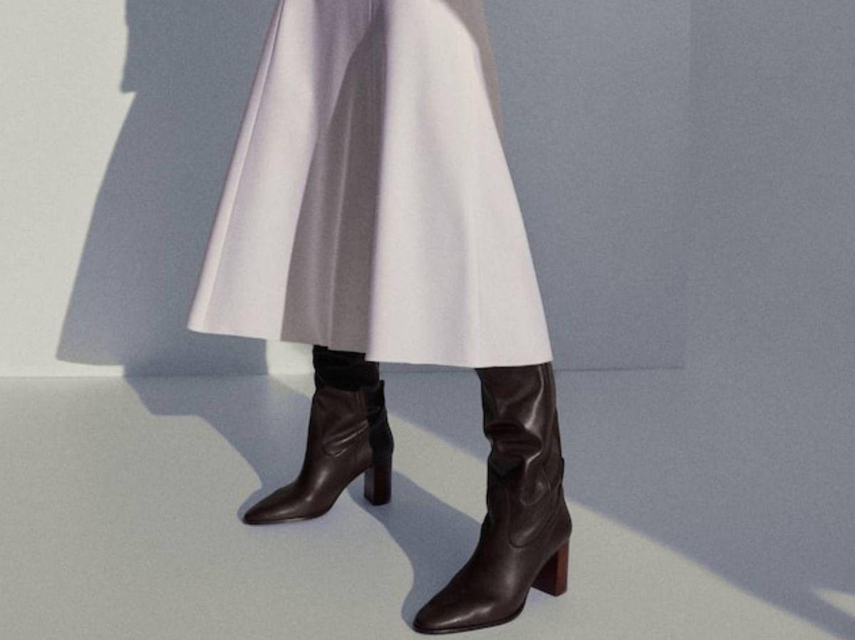 Foto: Botas de cuero de Massimo Dutti. (Cortesía)