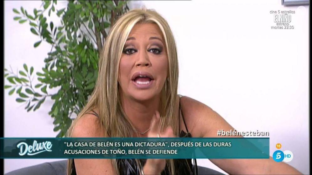 Foto: Belén Esteban contra Toño Sanchís en el último programa de 'Sálvame Deluxe'.