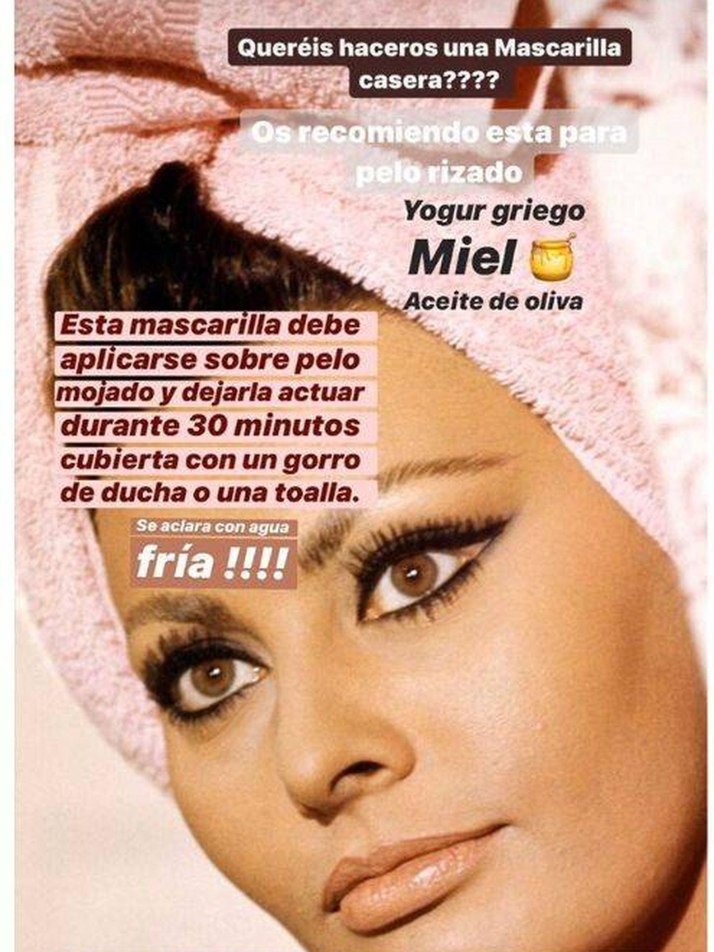 La mascarilla de Vicky Martín Berrocal solo necesita 3 ingredientes. (Instagram, @vickymartinberrocal)