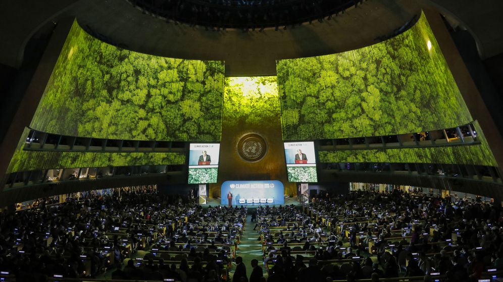 Foto: Guterres interviene durante la apertura de la cumbre. (Reuters)