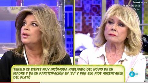 Terelu se niega a hablar de Bigote en 'Sálvame' y Mila se enfada con ella