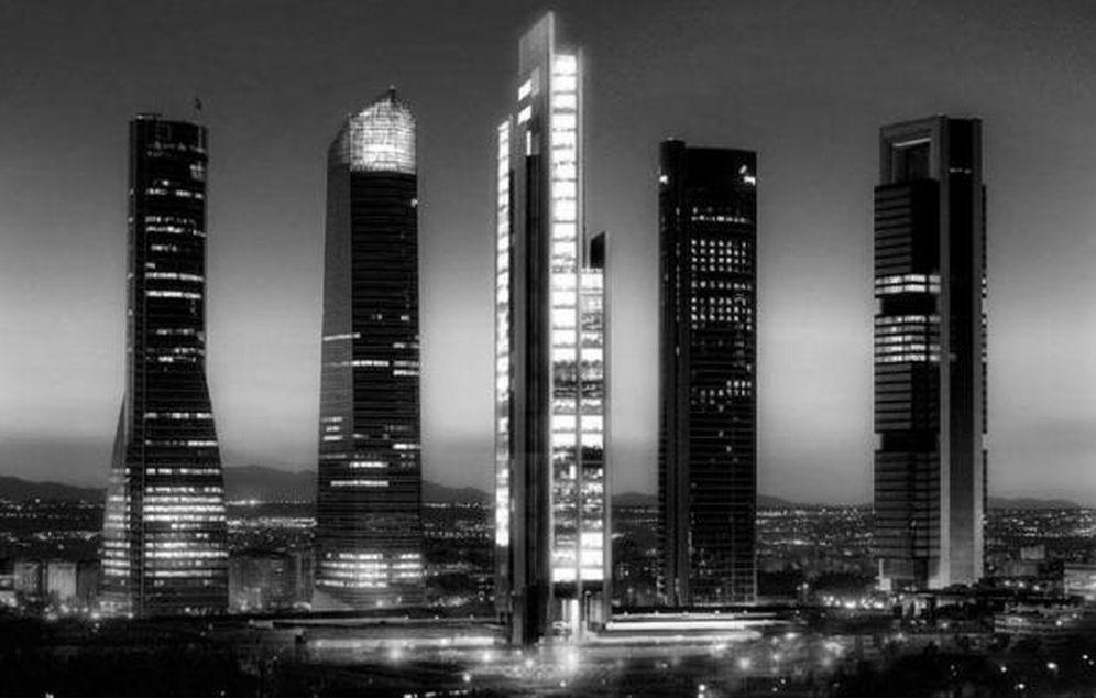 Foto: Imagen del 'skyline' de Madrid con el proyecto de la quinta torre.