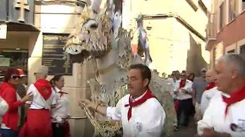 Borlas y mucho oro en la carrera de los Caballos del Vino en Caravaca de la Cruz
