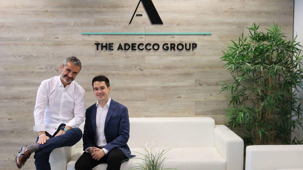 Foto: Enrique Sánchez y Miguel Castillo, presidente y CEO de Adecco España por un mes. (Adecco)