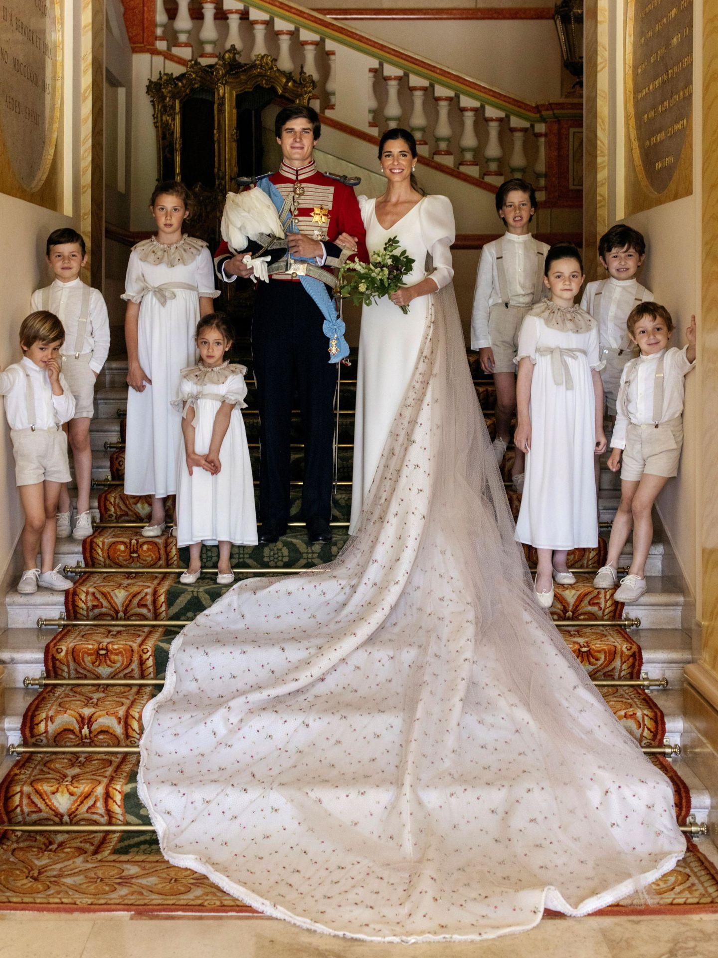 Los recién casados. (EFE/Alejandra Ortiz)