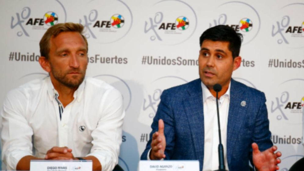 Foto: Diego Rivas y David Aganzo, secretario general y presidente del sindicato AFE.