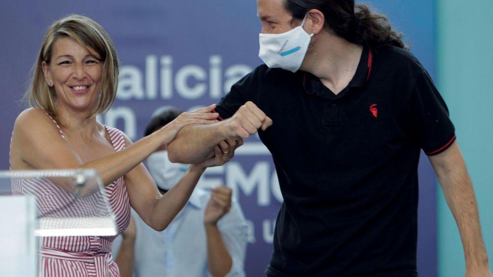 Yolanda Díaz tiene un problema, y se llama Pablo Iglesias