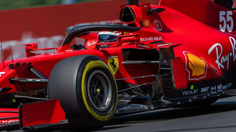 Sainz mostró el gran potencial de su coche con el neumático duro, que no pudo replicar con el blando.