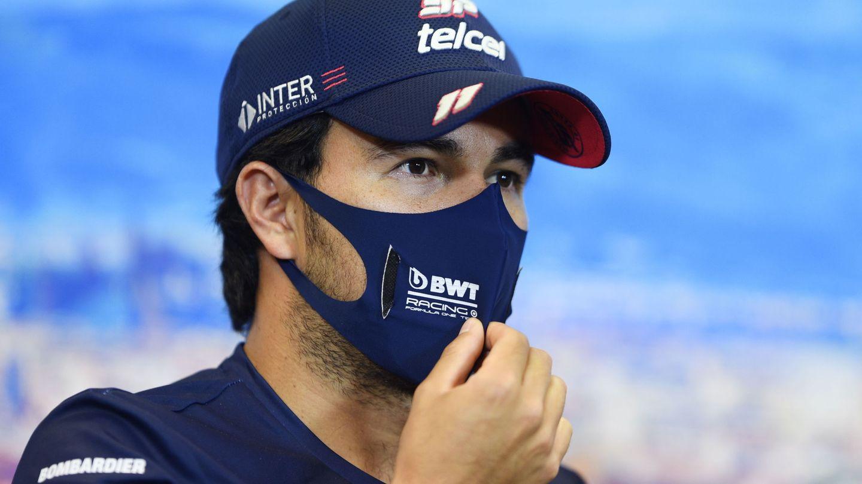 Sergio Pérez durante la rueda de prensa del Gran Premio de Mugello. (EFE)