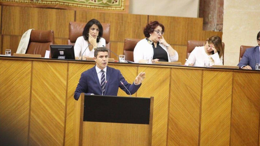 Foto: Sergio Romero en el Parlamento Andaluz. Ciudadanos.