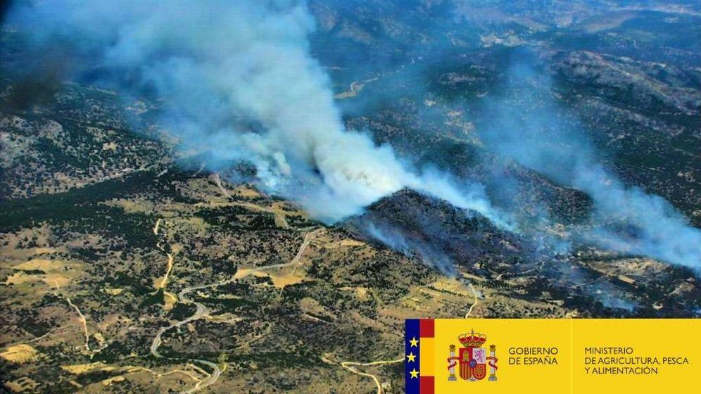 Foto: Incendio en Hoyo de PInares. (Ministerio de Agricultura, Pesca y Alimentación)