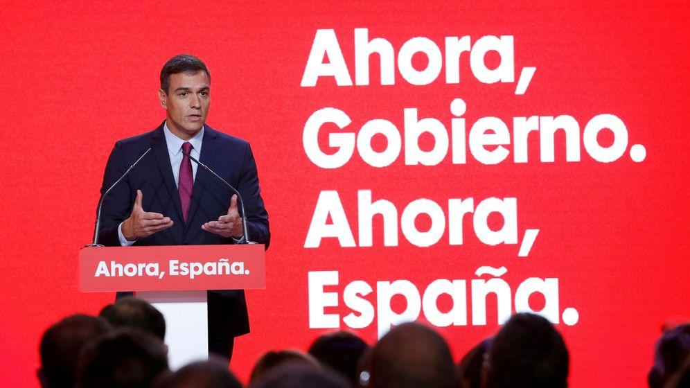 Foto: Pedro Sánchez presenta la precampaña socialista, este 30 de septiembre en el local La Próxima Estación, en Madrid. (EFE)