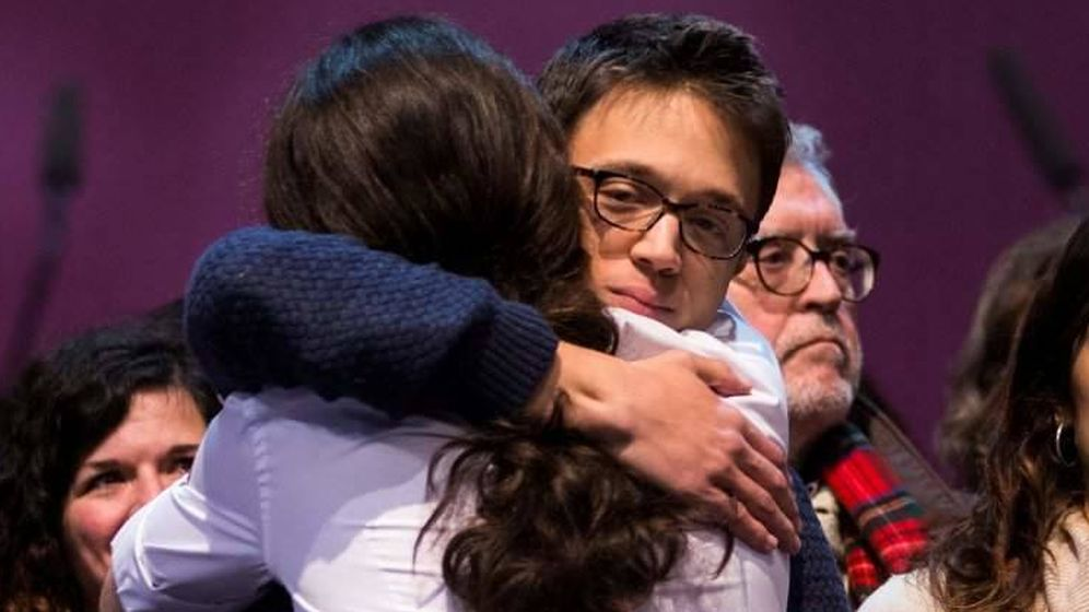 Foto: Íñigo Errejón y Pablo Iglesias en Vistalegre. (EFE)