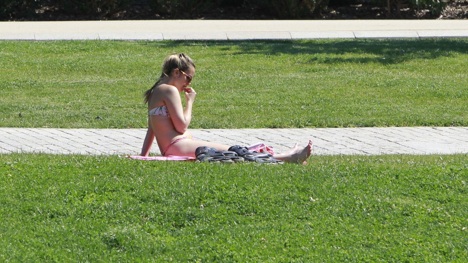 Foto: Mucho calor en Madrid. (Efe)