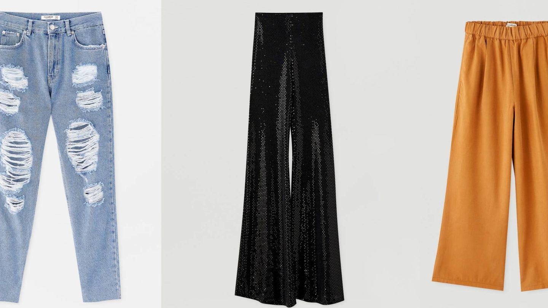 Tres estilos, tres pantalones, tres aciertos.  (Cortesía)