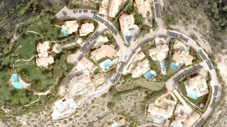 Vista aérea de la urbanización Las Brisas, donde está Villa Yasmín. (Google)
