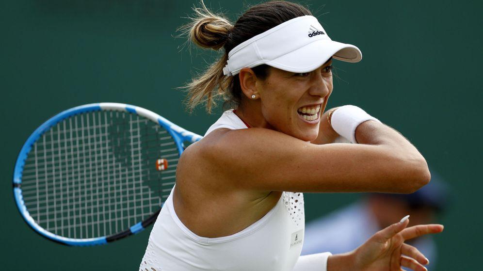 Foto: Garbiñe Muguruza perdió en primera ronda de Wimbledon ante Beatriz Haddad Maia. (EFE)