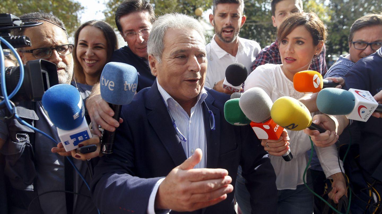 Alfonso Rus, en una de sus comparecencias en la Ciudad de la Justicia de Valencia. (EFE)