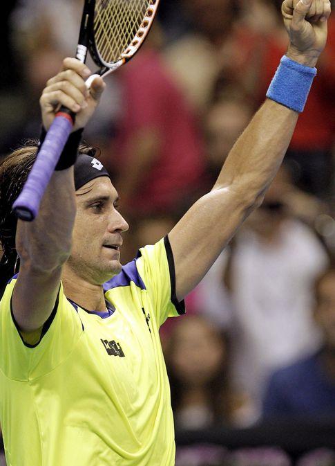 Foto: Ferrer celebra la victoria ante Almagro (Efe).