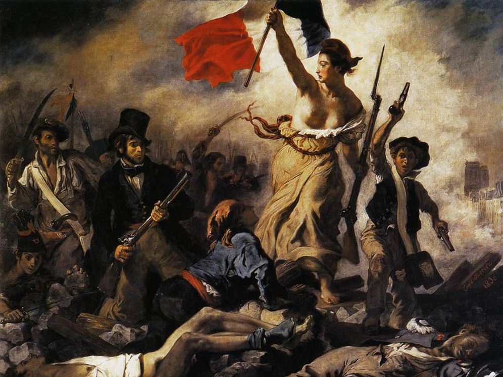 Foto: 'La libertad guiando al pueblo', pintado por Delacroix en 1830