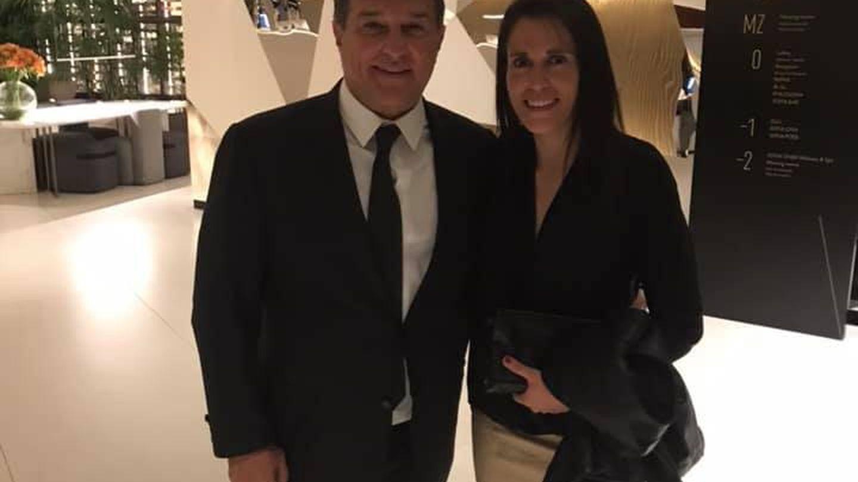 Ana Rossell, con Joan Laporta, de nuevo presidente del FC Barcelona