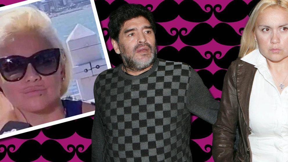 El 'bigote' de la ex de Maradona hace estallar una nueva guerra con sus hijas