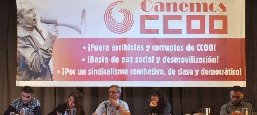 Foto: Primer encuentro estatal de Ganemos CCOO, celebrado el pasado fin de semana en Madrid. (Ganemos CCOO)