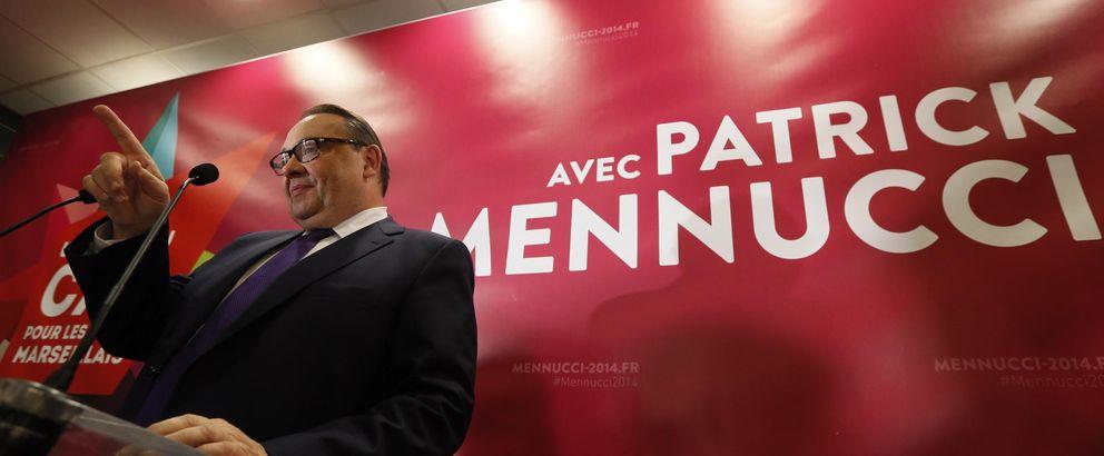 El candidato socialista en Marsella, Mennucci, tras conocer los resultados (Reuters).