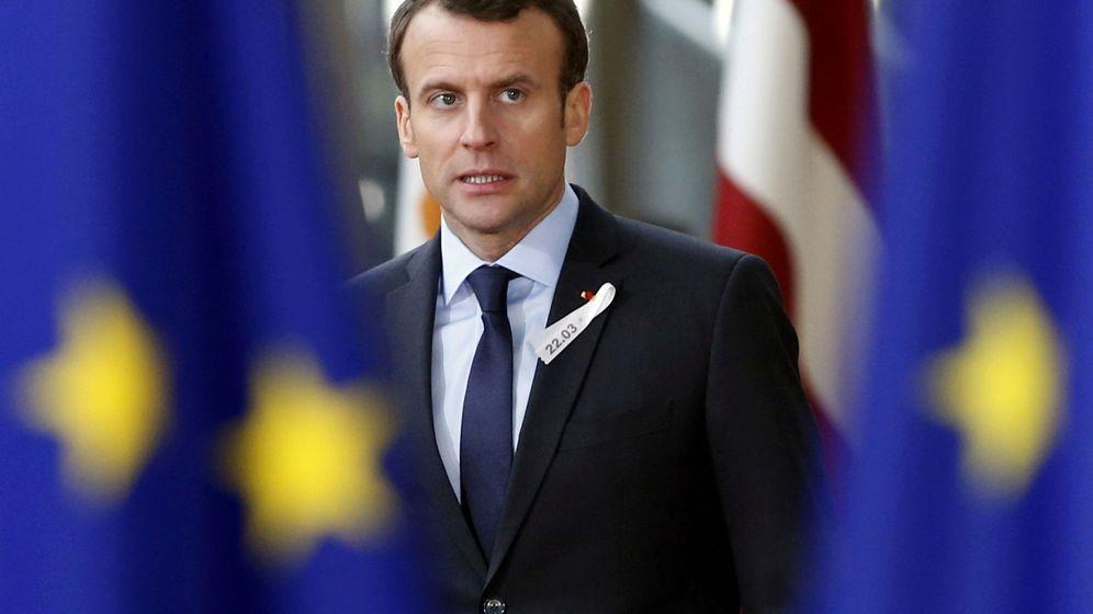 Foto: El presidente francés, Emmanuel Macron, en la cumbre de líderes europeos que se celebró este marzo. (Reuters)