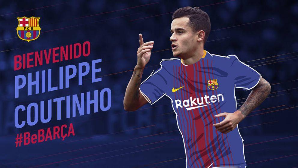 El Barcelona hace oficial el fichaje de Coutinho