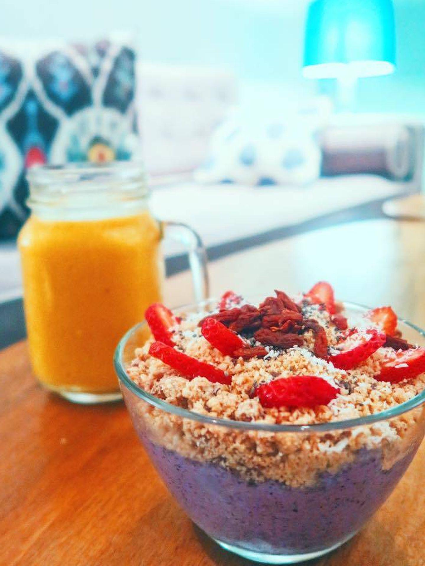 Power bowl con zumo orgánico. Vitaminas y salud. (Foto: Fit Food)
