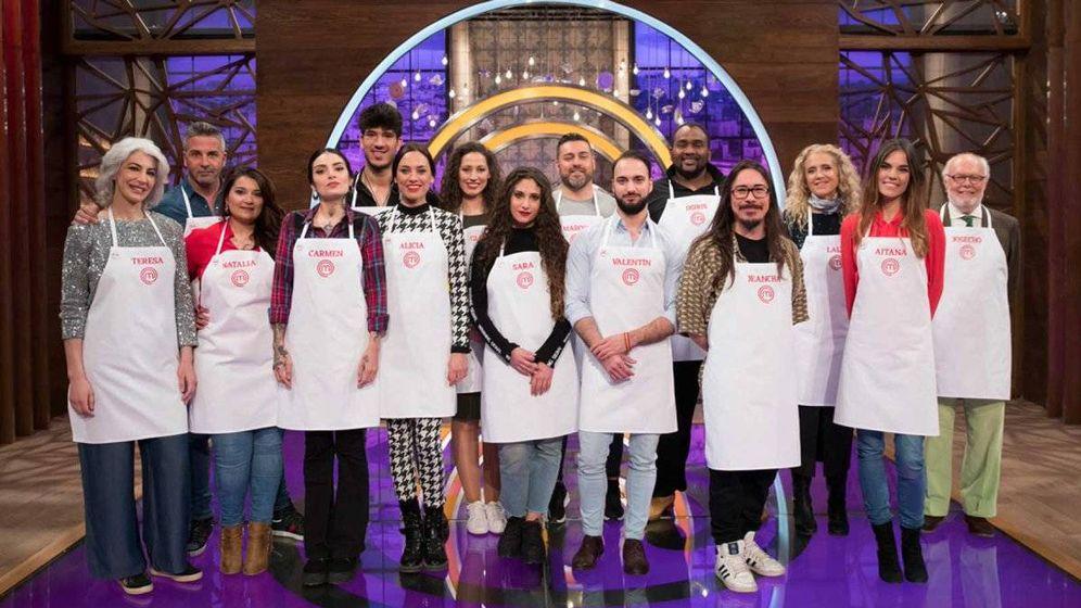 Foto: Los 15 aspirantes de 'MasterChef 7'. (TVE)
