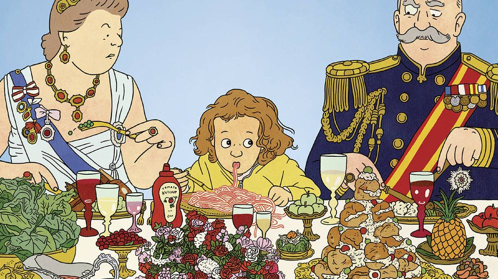 Foto: Detalle de portada de 'La cena con la reina'. (Fulgencio Pimentel)