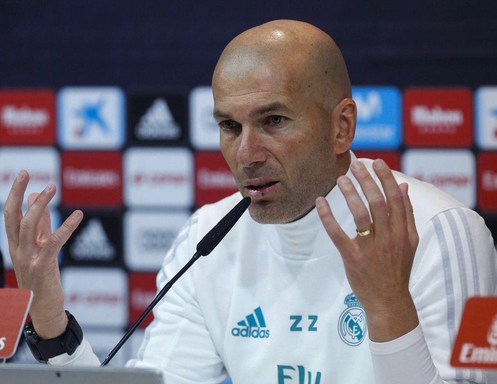 Foto: Zidane, en rueda de prensa. (EFE)
