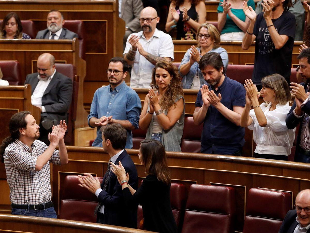 Foto: Los diputados de Podemos en el Congreso. (EFE)