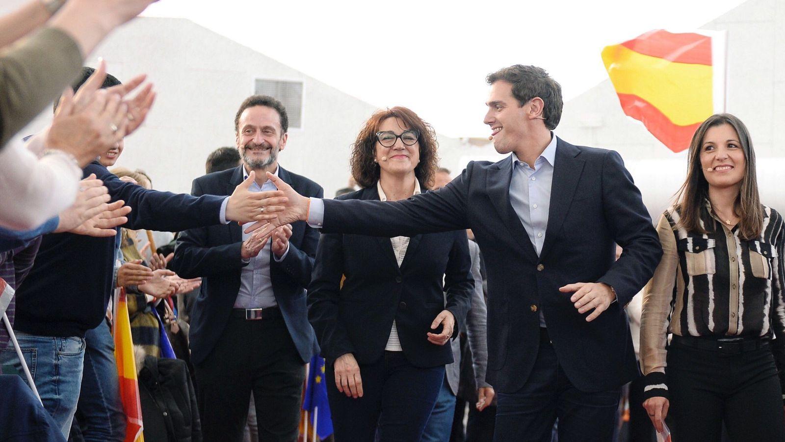 Foto: Albert Rivera, durante un acto de campaña el pasado abril, en Valladolid. (EFE)